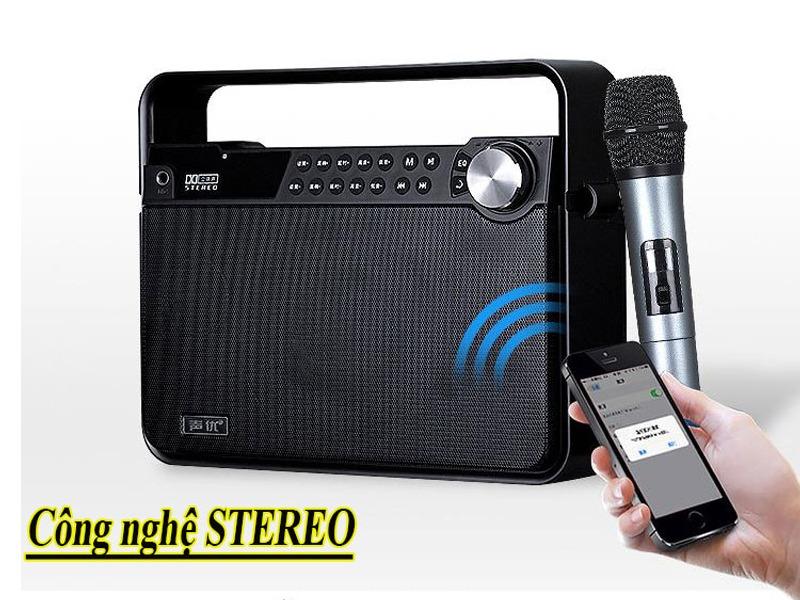 loa karaoke di động boxt q7 mặt lưới kết nối bluetooth