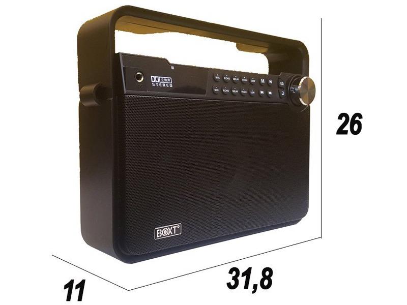 loa karaoke di động boxt q7 mặt lưới kích thước