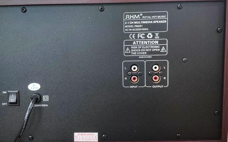 loa 2.1 rhm rm281 công suất 60w cực hay
