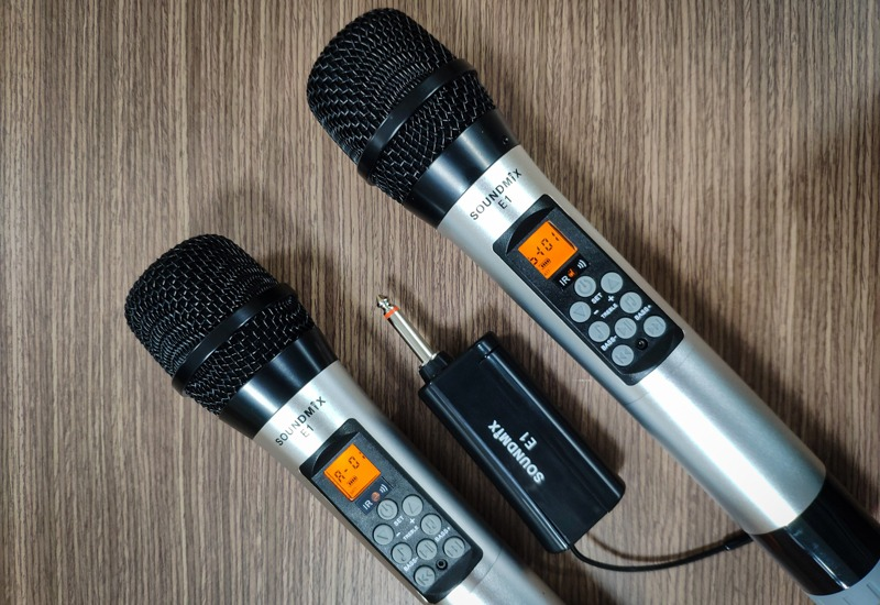 soundmix e1 - micro không dây cao cấp tích hợp bass, treble và echo