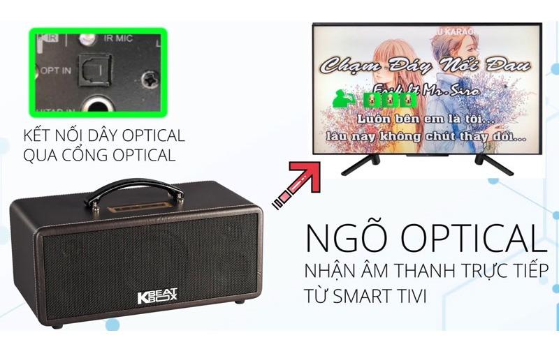 loa karaoke xach tay acnos ks360ms cổng optical