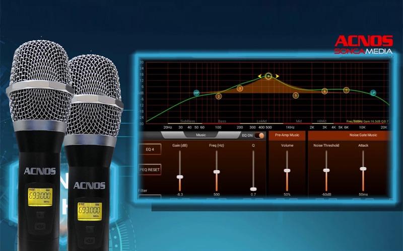 loa karaoke xach tay acnos ks360ms điều chrinh micro qua app