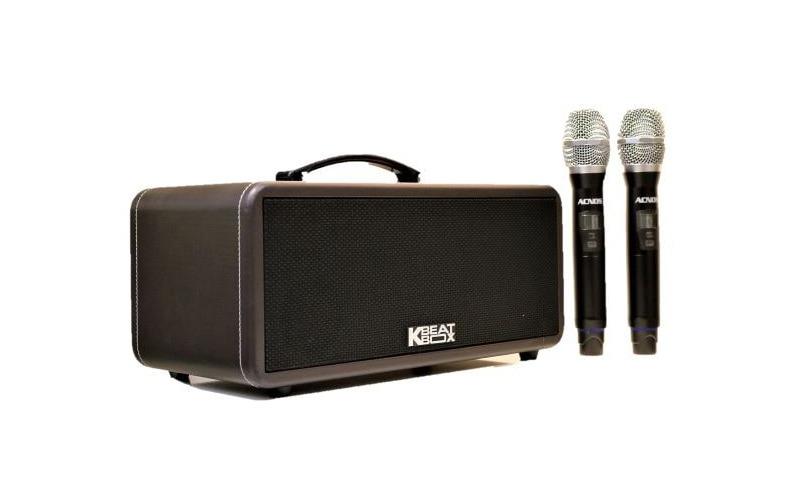 loa karaoke xach tay acnos ks360ms tặng 2 micro uhf