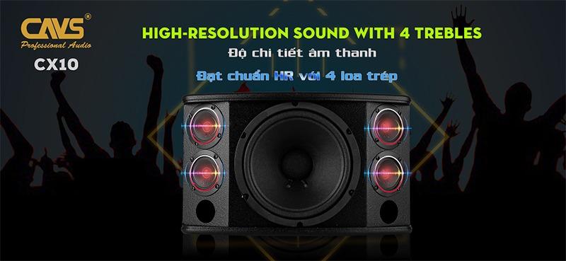 loa karaoke cavs cx10 bass 25cm 4 loa treble