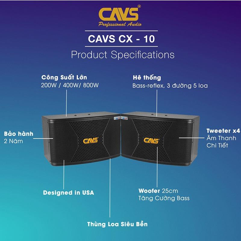 loa karaoke cavs cx10 bass 25cm tinh nang
