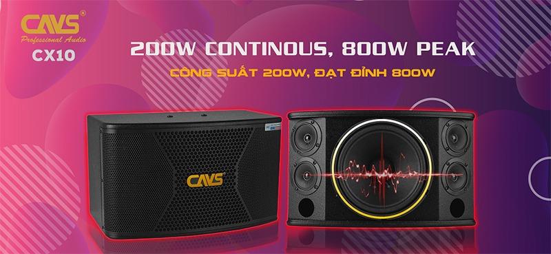 loa karaoke cavs cx10 bass 25cm cong suat 200w