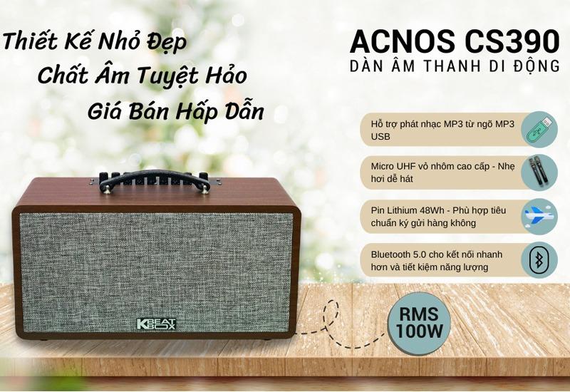 loa karaoke xach tay acnos cs390 - hinh 02