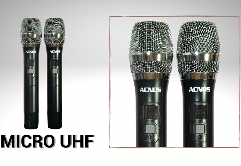 loa karaoke xach tay acnos cs390 - micro khong day uhf