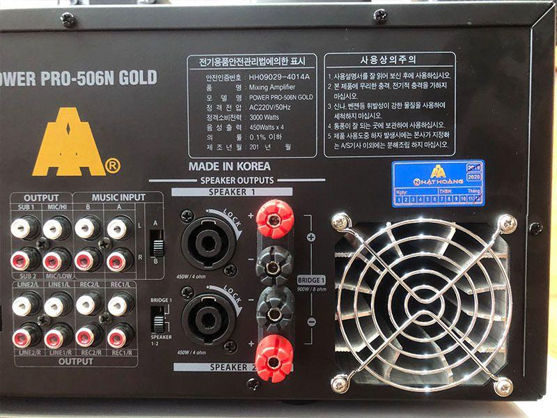 amply jarguar pro 506n gold af quạt gió