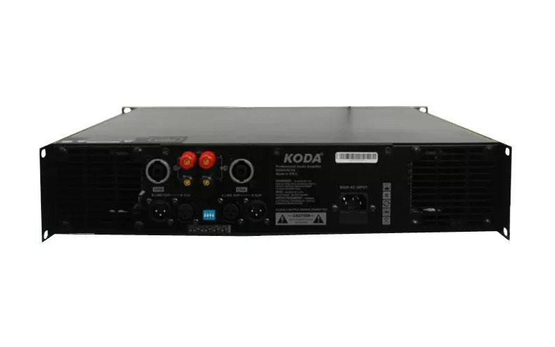 cục công suất 2 kênh koda kp-2450a mặt sau các cổng kết nối