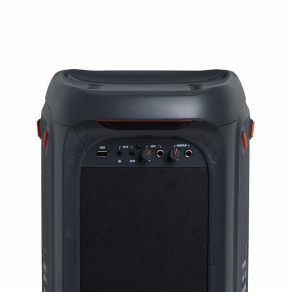 loa bluetooth jbl partybox 100 đèn led rgb mặt sau