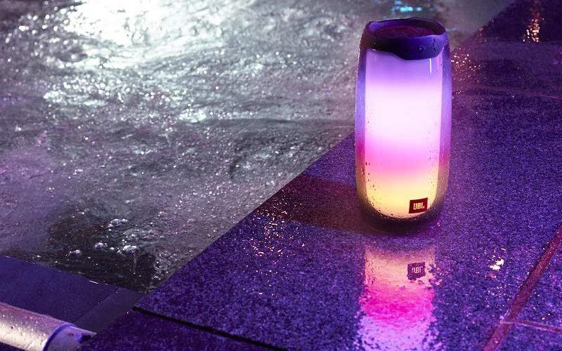 loa bluetooth jbl pulse 4 đèn led chong nuoc