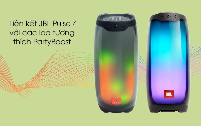 loa bluetooth jbl pulse 4 đèn led kết nối party boost
