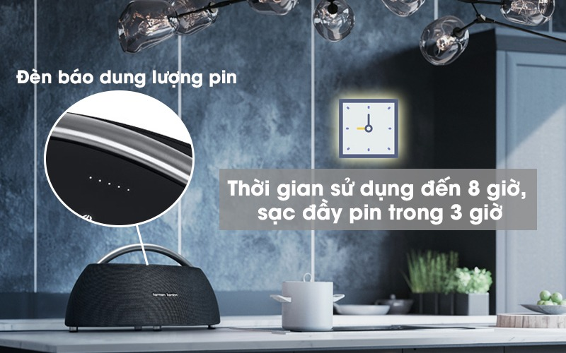 loa harman kardon go play - dung lượng pin cao, sử dụng tới 8 tiếng