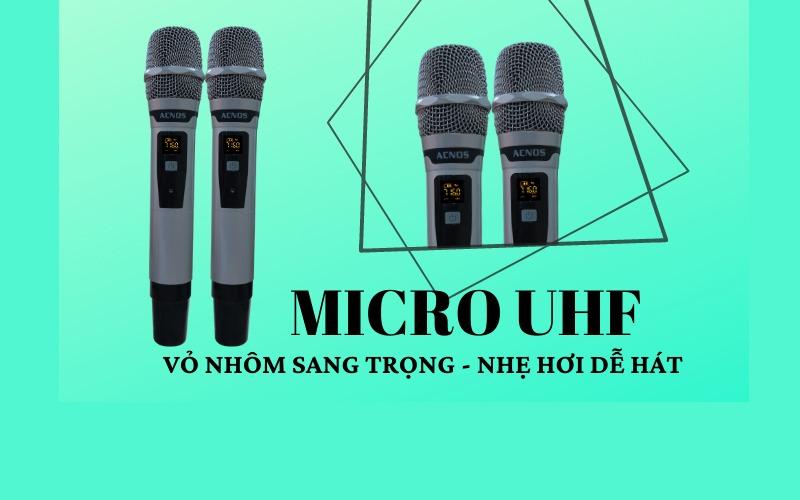 loa karaoke di đông acnos cs550 2 micro không dây