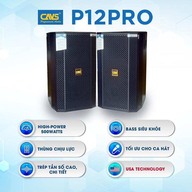 loa karaoke full cavs p12 pro tính năng