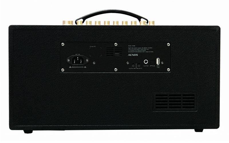 loa karaoke xách tay acnos cs446 cổng kết nối mặt sau