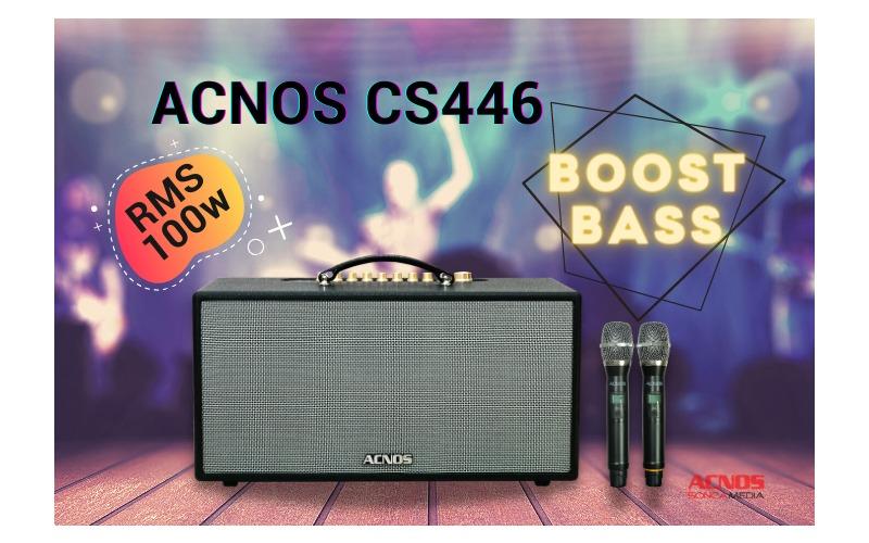 loa karaoke xách tay acnos cs446 công suất 100W