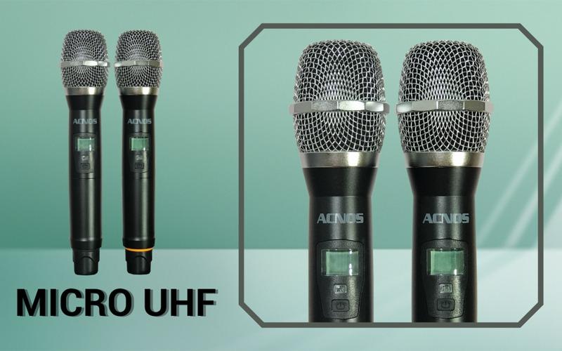 loa karaoke xách tay acnos cs446 kèm 2 micro