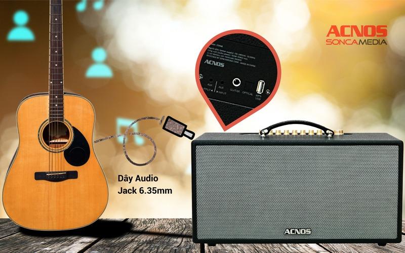 loa karaoke xách tay acnos cs446 kết nối nhạc cụ