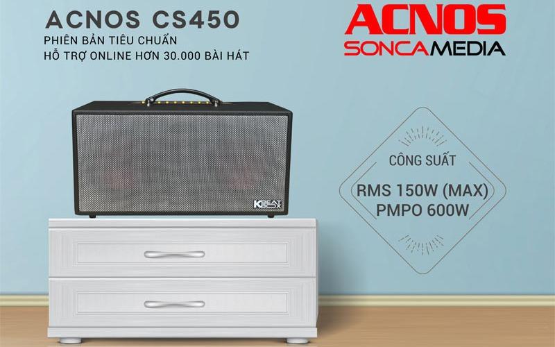 loa karaoke xach tay acnos cs450 âm thanh sống động