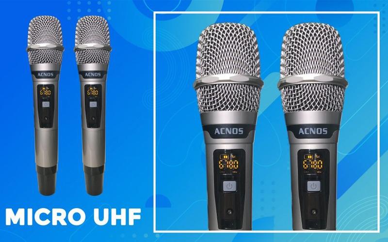 loa karaoke xach tay acnos cs450 2 micro uhf