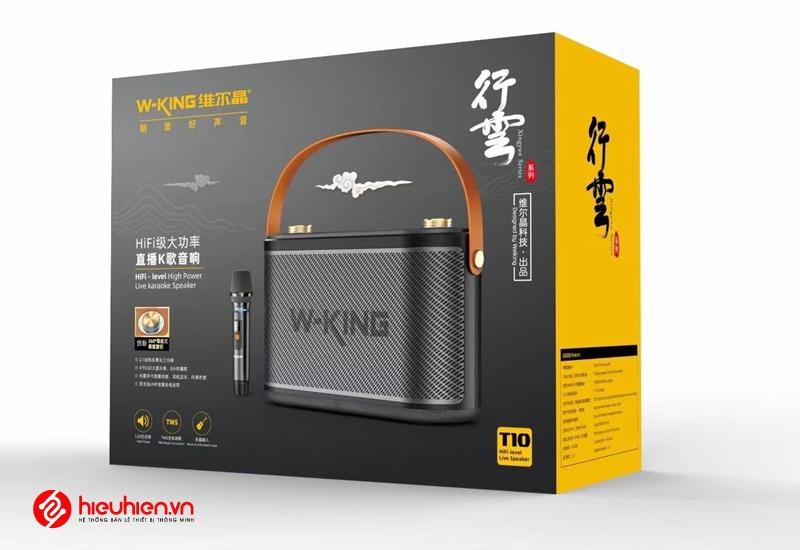 loa karaoke xach tay w-king t10 cong suat 120w full hop du phu kiên