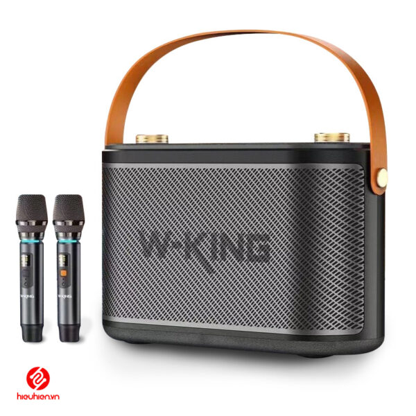 loa karaoke xach tay w-king t10 cong suat 120w kem 2micro