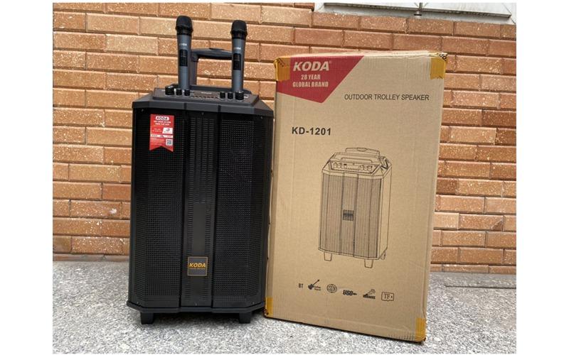loa kéo di động koda kd1201 3 dường tiếng kèm 2 micro không dây full hộp