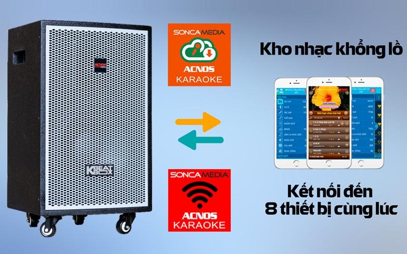 loa kéo karaoke di động acnos kdnet3011 kết nối app