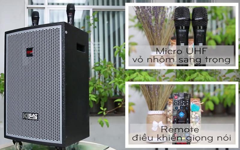 loa kéo karaoke di động acnos kdnet3011 thiết kế