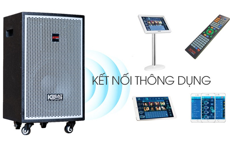 loa kéo karaoke di động acnos kdnet3011 kết nối đa dạng