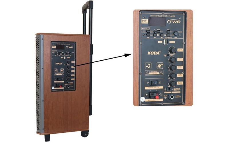 loa kéo karaoke koda kd1215 nút điều chỉnh