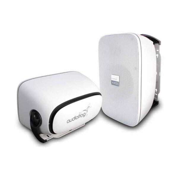 loa siêu trầm mini audiofrog aw25t màu trắng