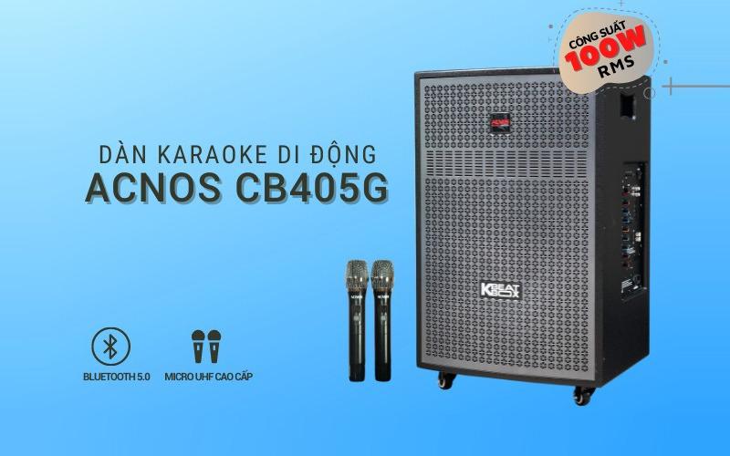 loa kéo karaoke acnos cb405g hình 5