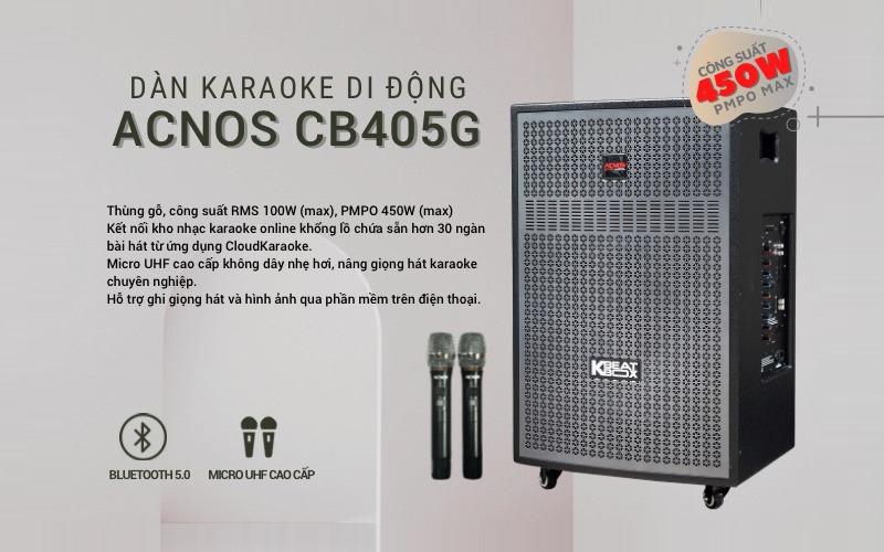 loa kéo karaoke acnos cb405g hình 6