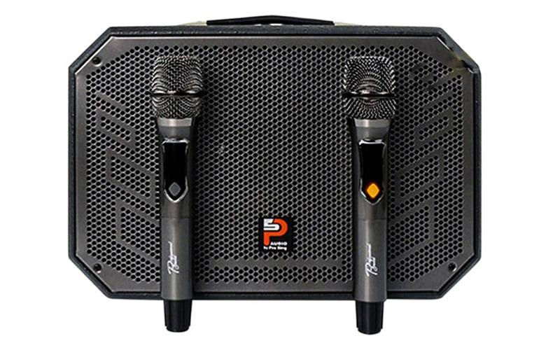 loa karaoke xách tay prosing w8-alisa kèm 2 micro không dây uhf