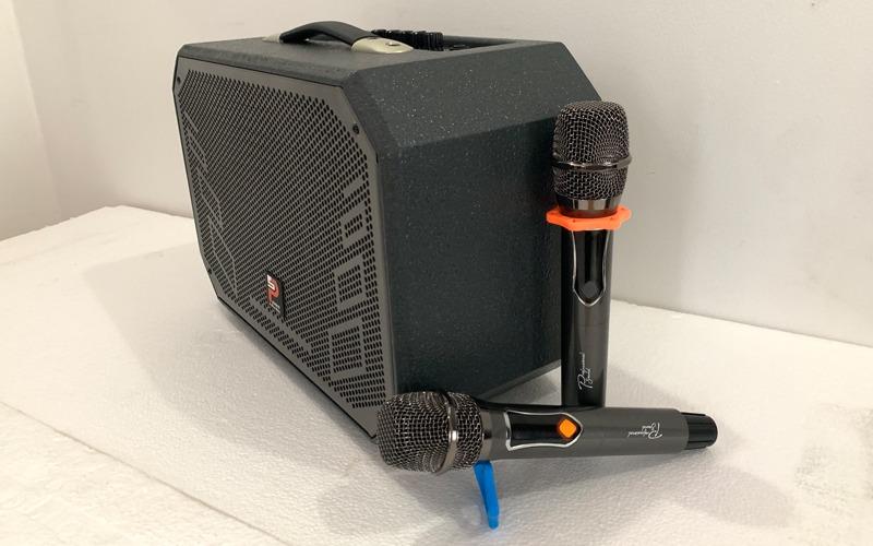 loa karaoke xách tay prosing w8-alisa kèm 2 micro