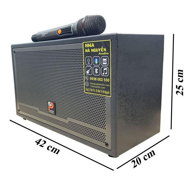 loa karaoke xách tay prosing w-silver-e kích thước nhỏ gọn