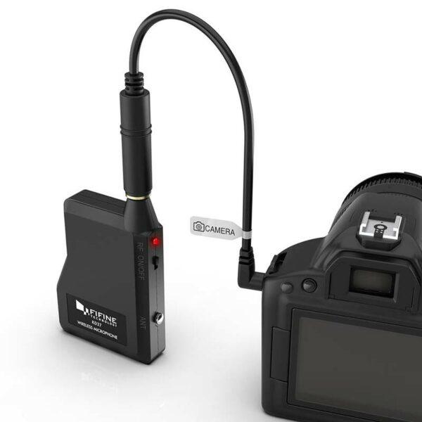 micro cài áo không dây fifine k037 kết nối máy ảnh