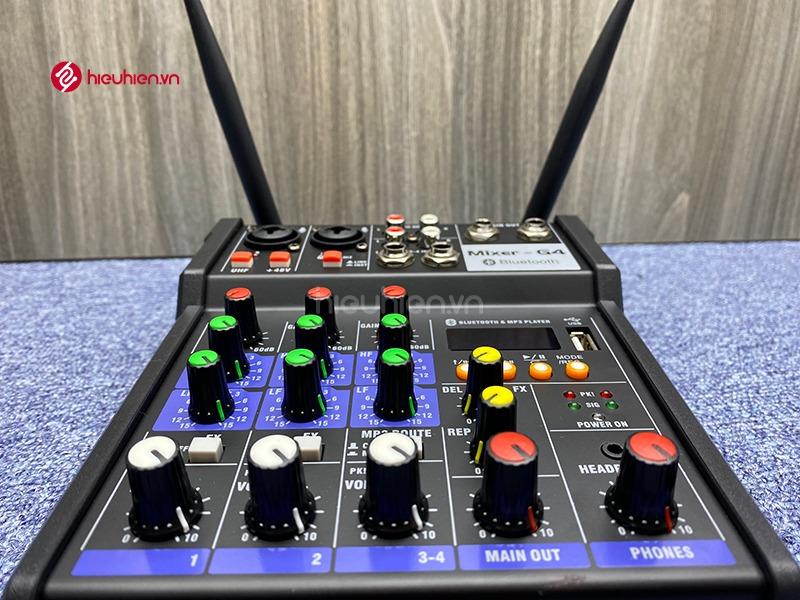 bộ mixer g4 chỉnh âm thanh kết nối hát karaoke ra loa ngoài hình 10