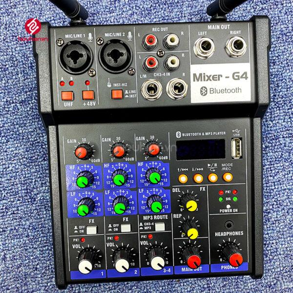 bộ mixer g4 chỉnh âm thanh kết nối hát karaoke ra loa ngoài hình 2
