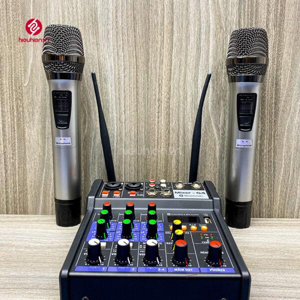 bộ mixer g4 chỉnh âm thanh kết nối hát karaoke ra loa ngoài hình 3