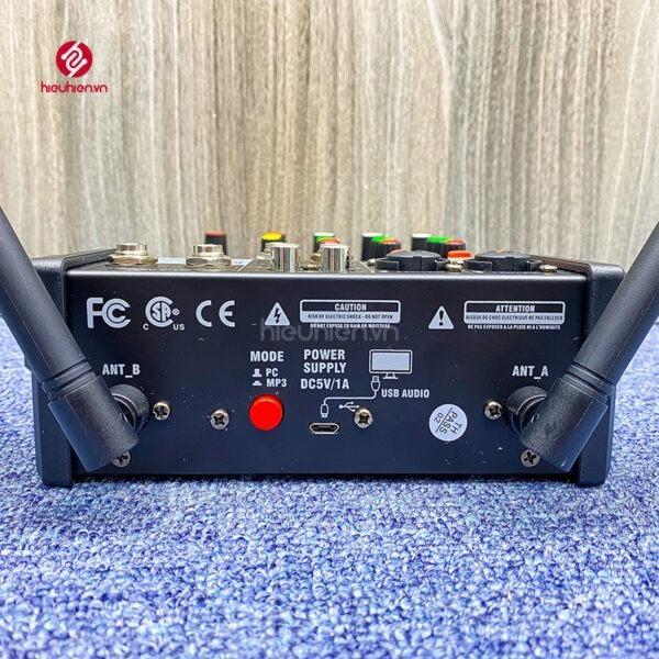bộ mixer g4 chỉnh âm thanh kết nối hát karaoke ra loa ngoài hình 4