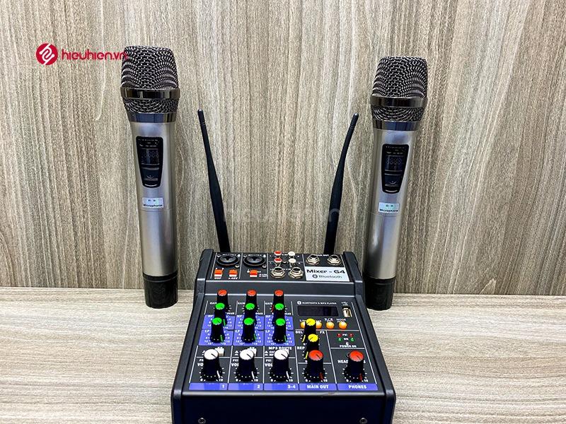 bộ mixer g4 chỉnh âm thanh kết nối hát karaoke ra loa ngoài hình 5