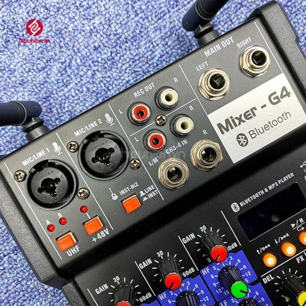 bộ mixer g4 chỉnh âm thanh kết nối hát karaoke ra loa ngoài hình 1