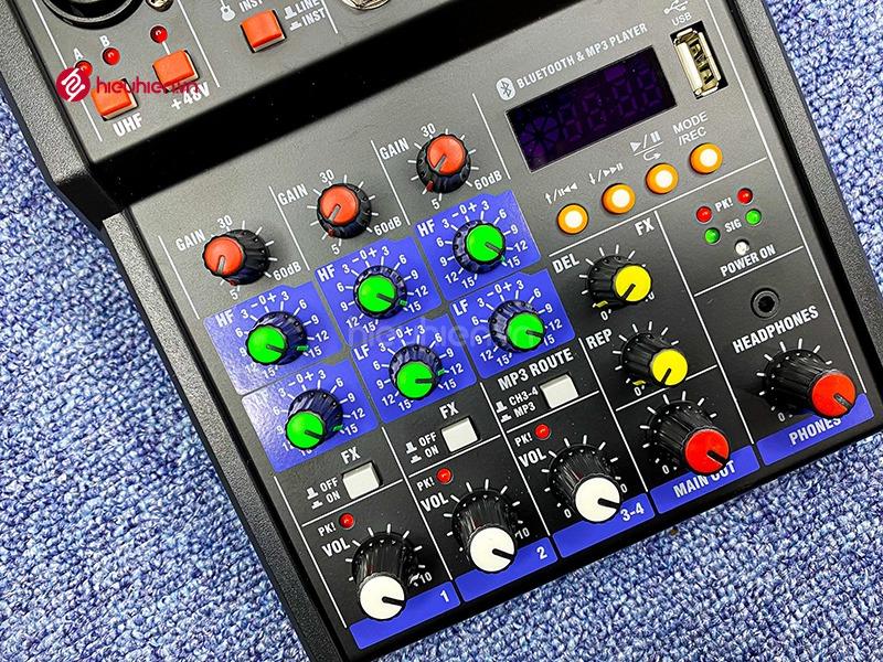 bộ mixer g4 chỉnh âm thanh kết nối hát karaoke ra loa ngoài hình 8