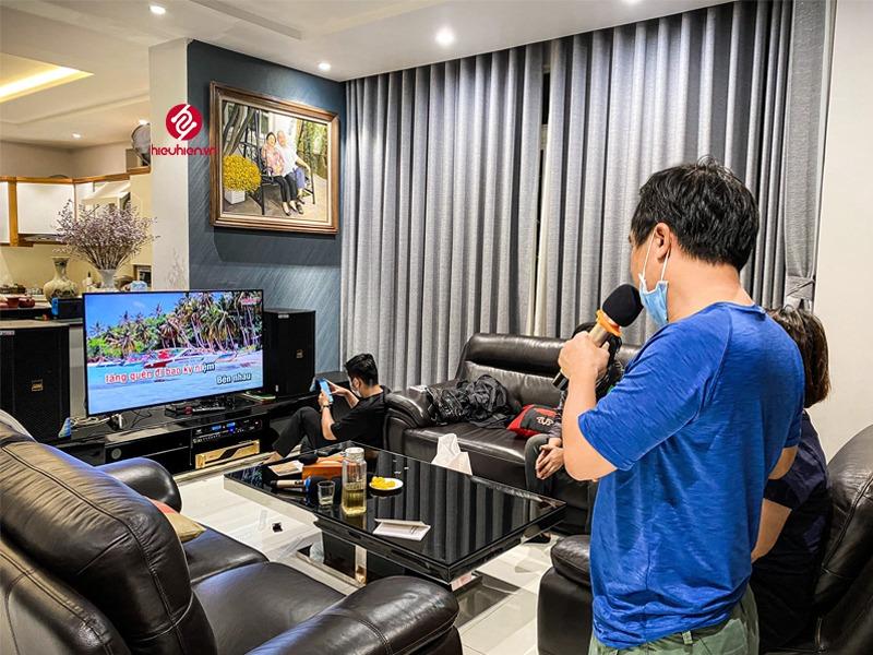 công trình lắp đặt dàn karaoke cao cấp tại khu biệt thự lucasta tp.thủ đức hoàn thiện