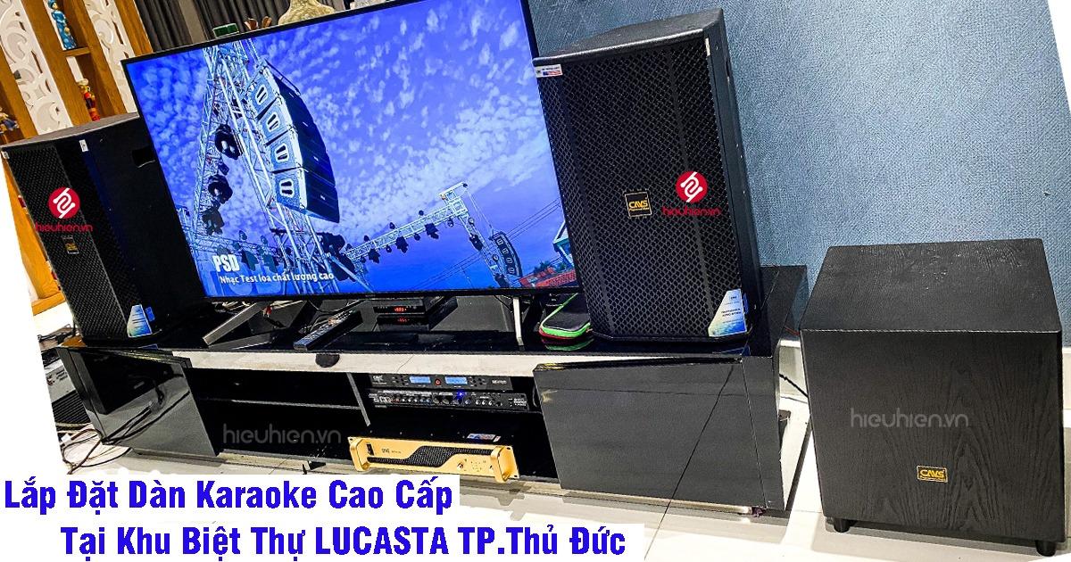 công trình lắp đặt dàn karaoke cao cấp tại khu biệt thự lucasta tp.thủ đức