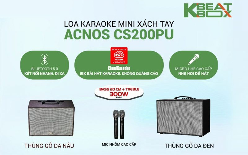 loa karaoke xách tay acnos cs200 pu hình 10